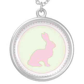 Green and Pink Bunny Necklace