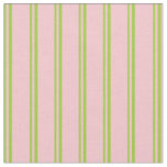 [ Thumbnail: Green and Pink Colored Lines Pattern Fabric ]