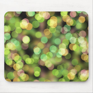 Green and Pink Festive Lights Mouse Pad