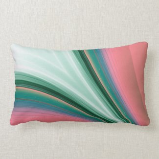 Green and Pink Flash Pillow