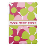 Green and Pink Flowers iPad Mini Case