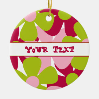 Green and Pink Flowers Ornament