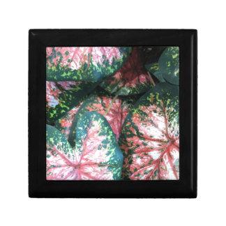Green and Pink Foliage Jewelry Box