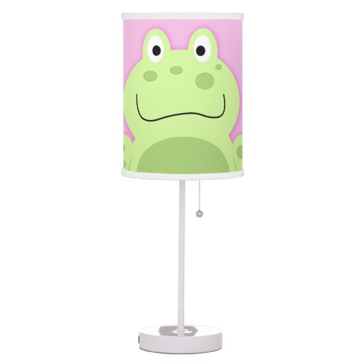 Green and Pink Frog Nursery Lamp