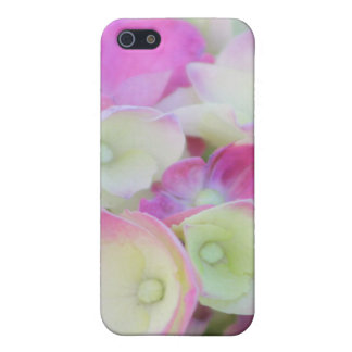 Green and Pink Hydrangea IPhone 4 Case