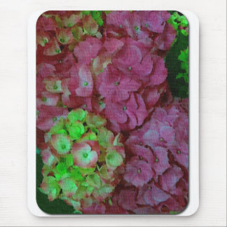 Green and Pink Hydrangeas Mouse Pad