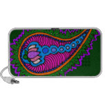 Green and pink paisley iPod speaker