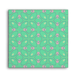 Green and Pink Pattern Envelope