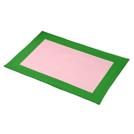 Green and Pink Placemat