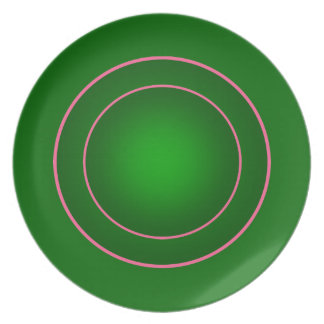 Green and pink plate