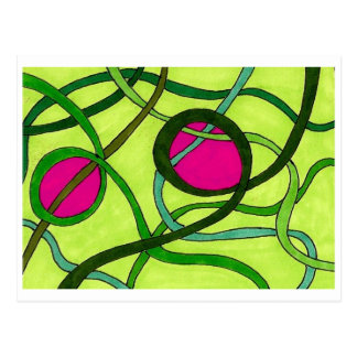 Green and Pink Postcard