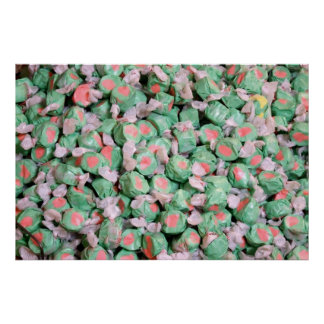 Green and Pink Salt Water Taffy Print