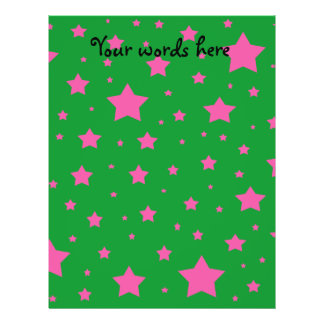 Green and pink stars personalized flyer