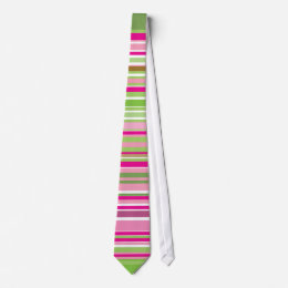 Green and Pink stripe Tie