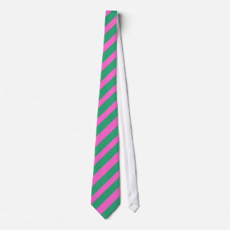 Green and Pink striped tie