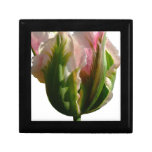 Green and Pink Tulip Trinket Box