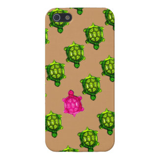 Green and Pink Turtle Pattern Covers For iPhone 5