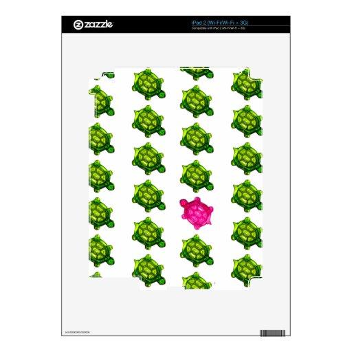 Green and Pink Turtle Pattern iPad 2 Skin