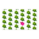 Green and Pink Turtles Pattern Double-Sided Standard Business Cards (Pack Of 100)