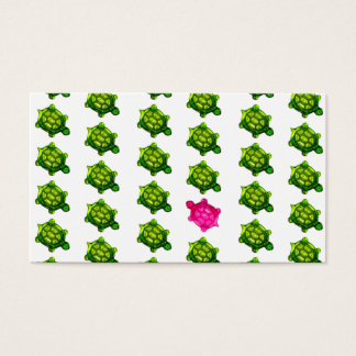 Green and Pink Turtles Pattern Business Card