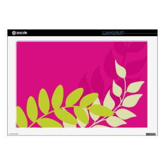 Green and Pink Vines Computer Skin Laptop Skin