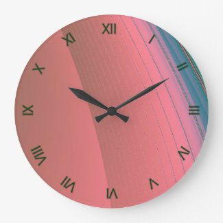 Green and Pink Wall Clock Green Numerals