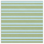 [ Thumbnail: Green and Powder Blue Colored Lines Fabric ]