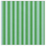[ Thumbnail: Green and Powder Blue Colored Stripes Pattern Fabric ]