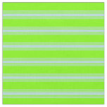 [ Thumbnail: Green and Powder Blue Lined/Striped Pattern Fabric ]