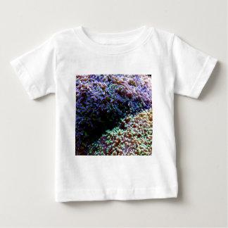 Green and purple anenomes baby T-Shirt