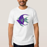Green and Purple Angelfish T-shirt