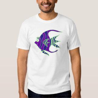 Green and Purple Angelfish Tee Shirt