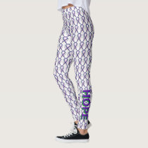 Green and Purple Awareness Ribbon Angel Leggings