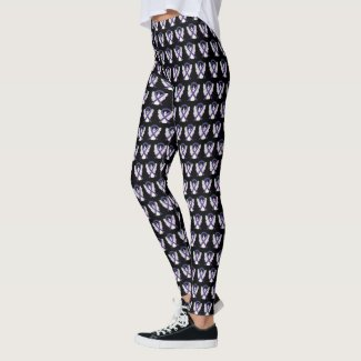Green and Purple Awareness Ribbon Custom Leggings