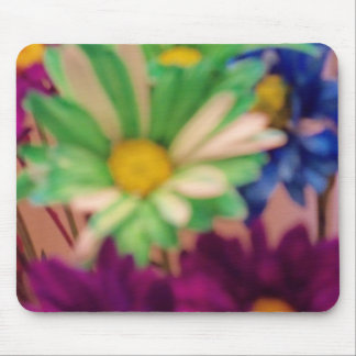 Green and Purple Blossoms Mouse Pad