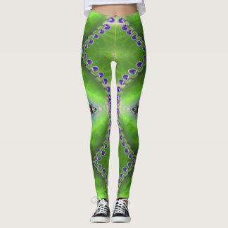 Green and Purple Design Leggings