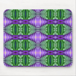 Green and purple Fractal Mouse Pad