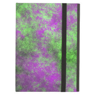 GREEN AND PURPLE GRUNGE CASE FOR iPad AIR