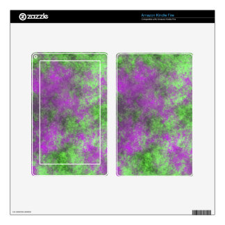 GREEN AND PURPLE GRUNGE KINDLE FIRE SKINS