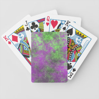 GREEN AND PURPLE GRUNGE POKER CARDS