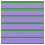 [ Thumbnail: Green and Purple Lines Pattern Fabric ]