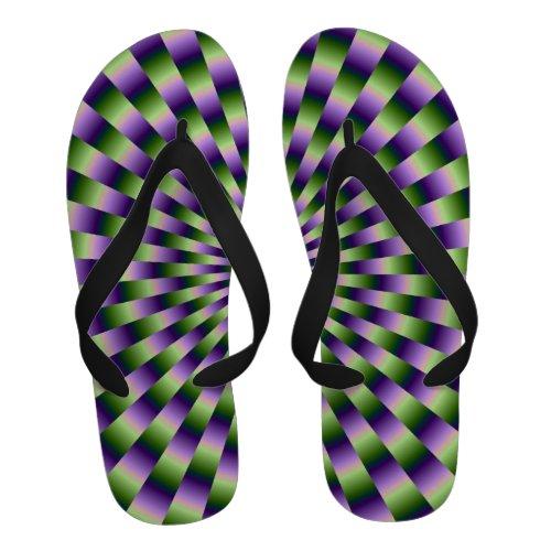 Green and Purple Links Flip-Flops