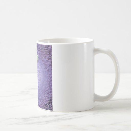 Green and Purple Mosaic Buddha Face Classic White Coffee Mug