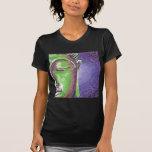 Green and Purple Mosaic Buddha Face T Shirt