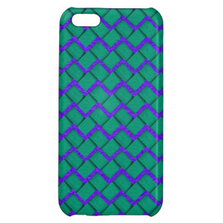 Green and Purple Paper Zig Zag iPhone 5C Case