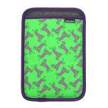 Green and Purple Pattern Dapple Dachshund iPad Mini Sleeve