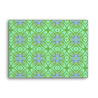 Green and Purple Pattern Envelope