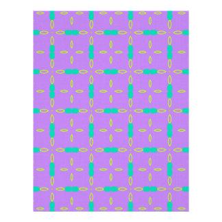 Green and Purple Pattern Letterhead