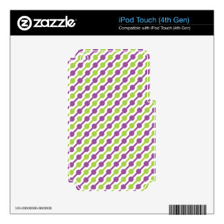 Green and Purple Retro Stripes iPod Touch 4G Skins