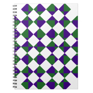 Green and Purple Reverse Plaid Spiral Notebook